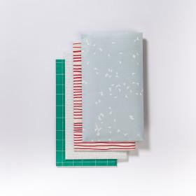 Ručně lepený papírový sáček střední