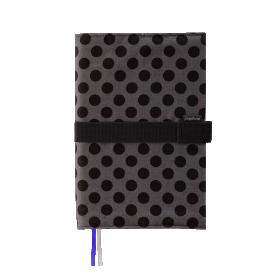 Deník v látkovém obalu - puntík na šedé