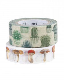 MT washi tape – houseplants and mushrooms