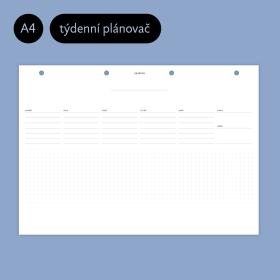 Týdenní plánovač A4 Planoo