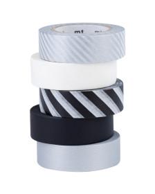 Dekorační pásky černobílé