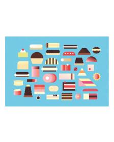Pavel Fuksa Postcard - Cakes