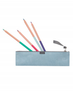 Pencil case with 'topless' coloured pencils