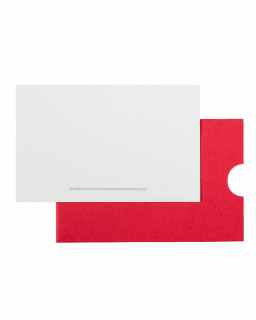 Compliment slips with paper wallet – scallops