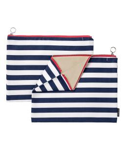 Fabric zipper case L