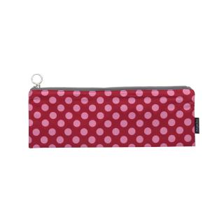 Fabric zipper case S - pink dots