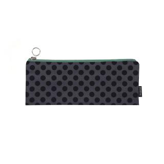 Fabric zipper case S - black dots