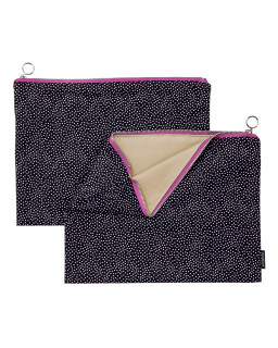 Fabric zipper case L